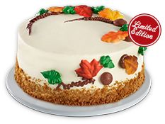 Pumpkin Perfecto cake There's no better way to celebrate fall than with our Pumpkin Perfecto cake. Enjoy layers of pumpkin spice cake with pecans, paired with delicious cream cheese filling.  Available September - November $19.99