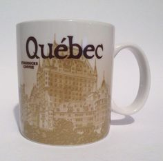 QUEBEC Starbucks City Mug Collector Series Global Icon Coffee/Tea 16oz 2012