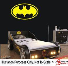 Large Batman Logo Dark Knight Childrens Bat Bedroom Wall Sticker Art Vinyl Mural Different Colours 900mm x 570mm Custom Sizes Available. £8.99, via Etsy.