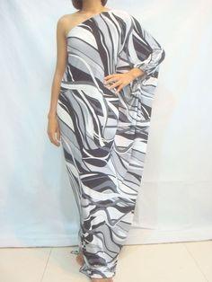 NWT Ladies Gray Cocktail Long One Shoulder Maxi Dress Plus Size 2X 3X 18 20 22
