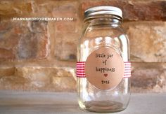 Little Jar of Happiness - write down the positive things during the year, and open the jar on New Year's eve for your family to reflect on the good things that you're thankful for this year. - from Harvard Homemaker