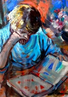 The reader Hendrik Christiaan Niemann Sr. born 1941 in Bloemfontein, South Africa more: Robertson art gallery Pinteres. Abstract Art, Art Gallery, Auction, African, Reading, Pastels, Artist, Painting, Books