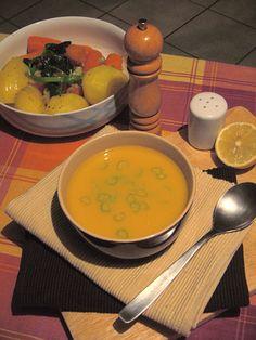 Greek Recipes, Chana Masala, Cantaloupe, Soup, Fruit, Ethnic Recipes, Greek Food Recipes, Soups, Greek Chicken Recipes
