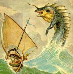A Frank Frazetta water dragon.