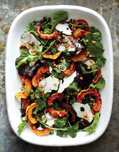 Amy Chaplin's Roasted Acorn and Delicata Squash Salad with Wheat Berries and Bitter Greens | Wall Street Journal