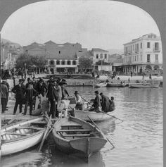Greece Pictures, Old Greek, Greece Photography, Greek History, Thing 1, Photographs Of People, Small Boats, Library Of Congress, Back In The Day