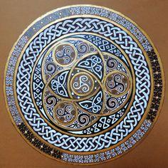Birds of Rhiannon — Celtic mandala by Annayelle Celtic Mandala, Celtic Art, Mandala Art, Celtic Circle, Celtic Dragon, Celtic Patterns, Celtic Designs, Tatto Viking, Celtic Symbols
