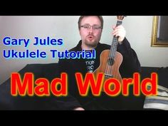 Mad World - Gary Jules - finger-picking - Ukulele Tutorial - YouTube