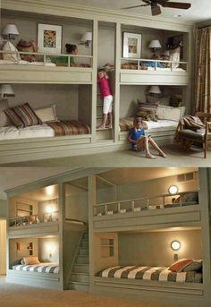 Built in bunk beds :)