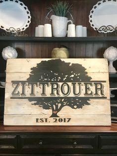 DIY wooden name sign family tree. Wedding shower or wedding gift. Personalized wedding gift. DIY farmhouse wooden sign.