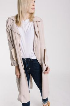 5aa32ef9778 The Gentry Linen Trench is an updated version of the classic trench that is  perfect for
