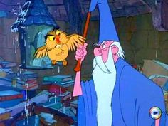 *ARCHIMEDES & MERLIN ~ Sword in the Stone, 1963 | two of my favorite characters!