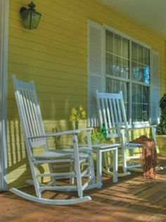 Relax on the front porch with a glass of lemonade. Life is good.