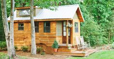 The traditional craftsman and wooden finishes turns this cedar bungalow into a rustic dream.