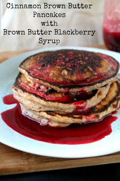 Lightly spice, hearty whole wheat buttermilk pancakes get topped with ...