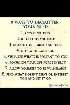 8 ways to de clutter the mind