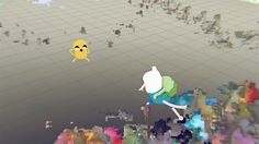 "Screenshot from ""A Glitch Is A Glitch"" - ""Adventure Time"" episode written, directed & produced by David OReilly"