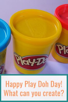 What can you create? Happy Play, Daily Activities, Play Doh, Coffee Cans, Create Yourself, Canning, Day, Food, Everyday Activities