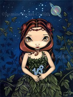 Capricorn astrological sign fairy art print by by strangeling, $13.99
