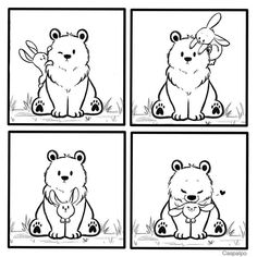 Cute Couple Comics, Couples Comics, Bunny And Bear, Drawing Reference Poses, Cute Bears, Love Can, Funny Comics, Cupid, Comic Strips