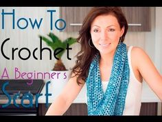 How to Crochet a Beginner's Infinity Scarf - YouTube