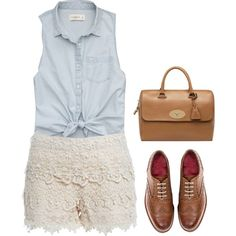 Outfit with Lace Shorts