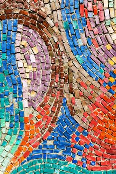 Diagonal Colorful Mosaic Texture On The Wall Stock Photo, Picture And Royalty Free Image. Image 41341832.