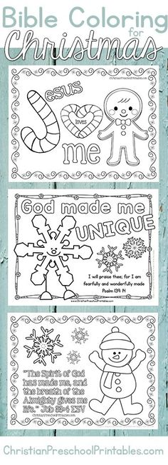 Christmas Bible Coloring Pages. A great set of free christian coloring pages and… Christmas Bible Coloring Pages. A great set Christmas Bible, Christmas Crafts For Kids, Christmas Colors, Church Christmas Craft, Kindergarten Christmas, Summer Crafts, Hygge Christmas, Christmas Printables, Christmas Holidays
