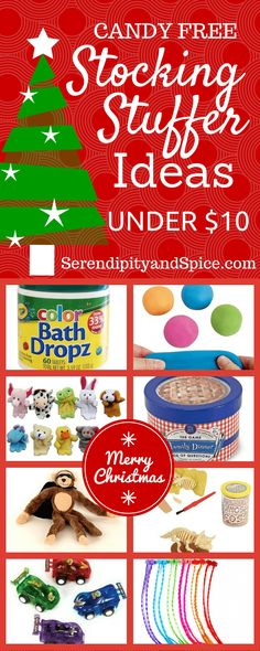 Candy Free Stocking Stuffer Ideas for Under $10...the perfect stocking treats for kids!