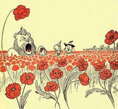 Wizard Of Oz Original Illustrations | wizard of oz # l. frank baum # deadly poppy field