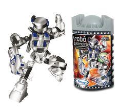 0696.5 - Blocos de Encaixe Robô Guerreiro WHITE ARMOR   Contém 55 peças.   Faixa Etária: +6 anos   Medidas: 10,5 x 9 x 20 cm   Jogos e Brinquedos   Xalingo Brinquedos   Crianças