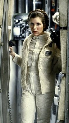 Princess Leia (Carrie Fisher) - Star Wars Episode V: The Empire Strikes Back Star Wars Film, Star Wars Art, Star Trek, Carrie Fisher, Harrison Ford, Star Wars Brasil, Dark Vader, Princesa Leia, Leia Star Wars