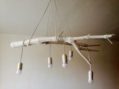 DIY home decor, wooden light, on budget