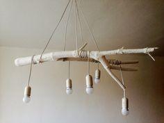 DIY home decor, wooden light, on budget
