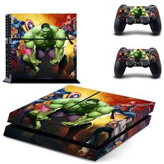 Hulk ps4 skin decal for console and controllers