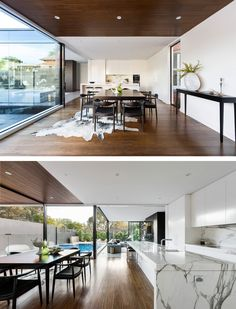 LSA Architects have completed the renovation of a heritage home in Melbourne, Australia, by adding a contemporary addition that includes a dining space.