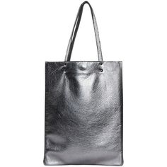 Antique silver leather tote, leather handbag, silver leather tote bag (1.160 ARS) ❤ liked on Polyvore featuring bags, handbags, tote bags, tote purses, leather tote, leather tote handbags, leather hand bags and silver leather tote bag