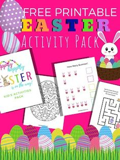 FREE Easter Activity Pack for Kids. 9 pages of fun and games to celebrate the Easter holiday. Free Printable for Preschoolers! Easter Activities, Activities For Kids, Crafts For Kids, Mint Chocolate Fudge Recipe, Easter Holidays, Happy Holidays, Easter Celebration, Spring Crafts, Holiday Crafts