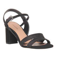 Sandália Preto de Nobuck - Shoestock