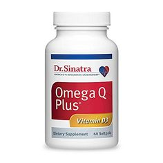 Dr Sinatras Omega Q Plus with Vitamin D3  Heart Health Supplement for Strengthening Bones and Boosting Immune Health 60 softgels 30day supply ** You can get additional details at the image link.
