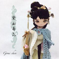 Las Razas del Mundo en Amigurumis | Otakulandia.es Yarn Dolls, Knitted Dolls, Crochet Dolls, Crochet Doll Pattern, Crochet Patterns Amigurumi, Amigurumi Doll, Cute Crochet, Crochet Baby, Knit Crochet