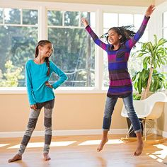 Inject some movement into your family's day with a classic exercise: jumping jacks.