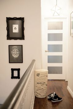 """Sarah Foelske designs. """"My laundry hamper is one of my favorite items in the house. I found it in an antique store in Toronto. Of all the items in our house, this one is the most """"me."""""""""""