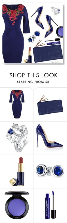 """""""TwinkleDeals"""" by simona-altobelli ❤ liked on Polyvore featuring Christian Louboutin, Estée Lauder, Bling Jewelry, MAC Cosmetics and NYX"""