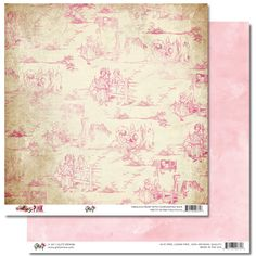 "Pretty in Pink ""Toile"" paper"