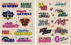 """knoodler: """"more rad stickers """" 90s Design, Retro Design, Logo Design, Typographie Logo, Logos Retro, 80s Logo, Typo Logo, Typography Letters, Cute Typography"""
