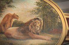 antique carousel, lions
