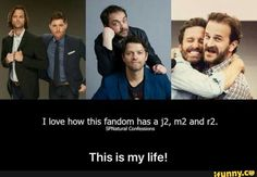 Actually, it's more like m4, because there's Misha Collins, Mark Shepherd, Mark Pelligrino and Matt Cohen (Sorry if I didn't spell some of those right)