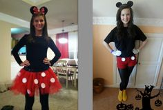 Homemade Mickey and Minnie Mouse Costume. You could also do the other characters from Mickey Mouse if you wanted