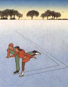 'Skaters' ~ by Guy Billet, 1986